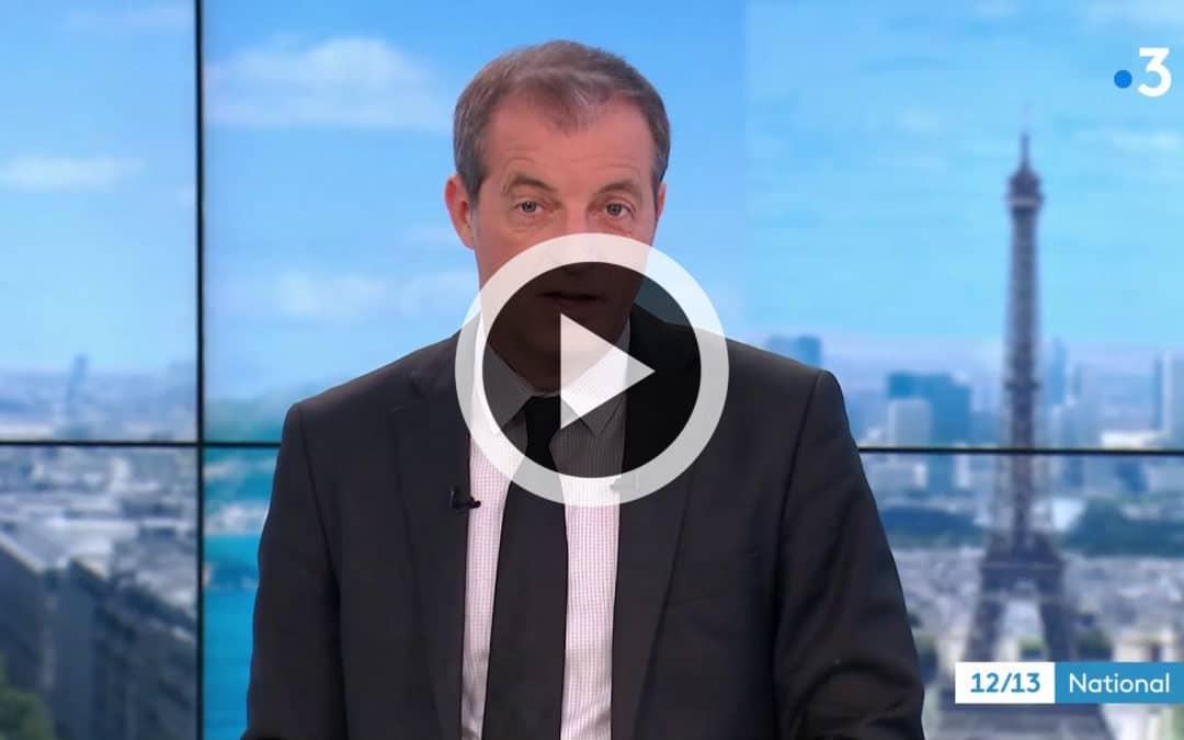 France 3 – JT National de 13h – Reportage du 13 avril 2019